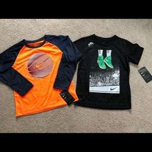 Boys size 7 Nike basketball shirts NWT
